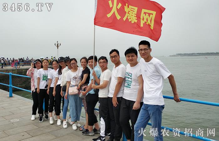 团队拍照海边创意队形
