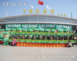 火爆龙8国际欢迎您招商网的绿色军团给展会现场增加色彩