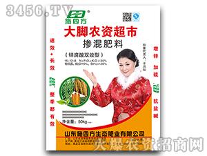 锌腐酸双效型掺混肥料15-12-8-施四方