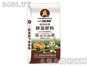 碳酶锌硼掺混肥料15-11-20-土豆专用硫酸钾型-一亩神