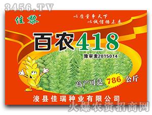 百农418-小麦种子-佳瑞种业