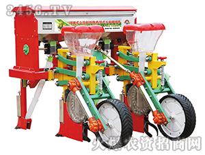 悬浮式六连杆两行玉米施肥播种机-鲁霸