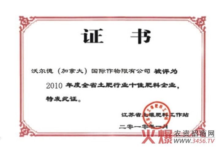 证书-沃尔德国际作物有限公司