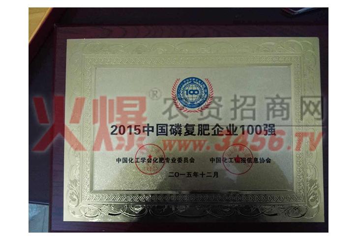 2015中国磷复肥企业100强-河南农友福肥业有限公司