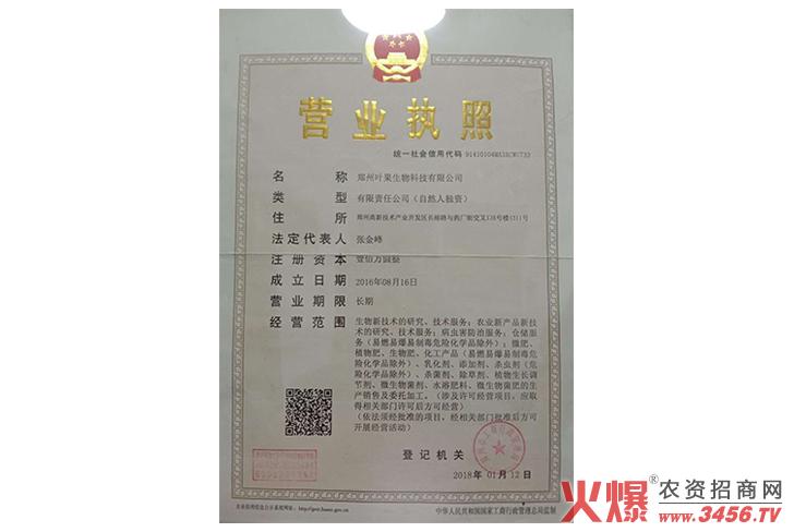 营业执照-叶果国际集团